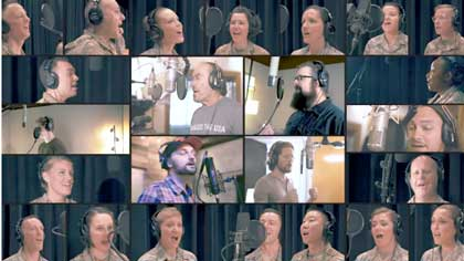 New version of God Bless the USA with Lee Greenwood, USAF Band Singing Sergeants and Home Free.